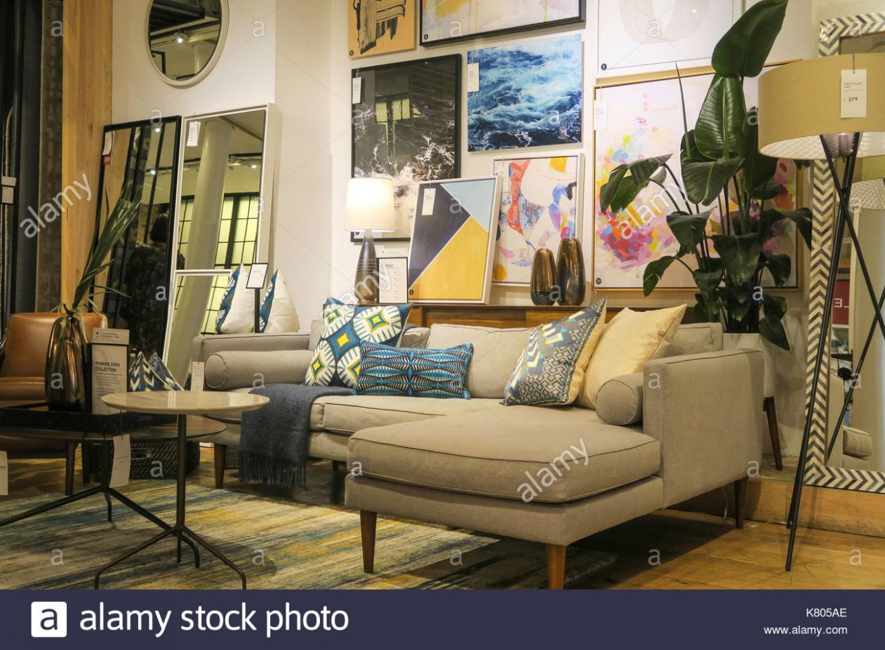 West Elm Store Contemporary Home Decor, NYC, USA Stock Photo ...