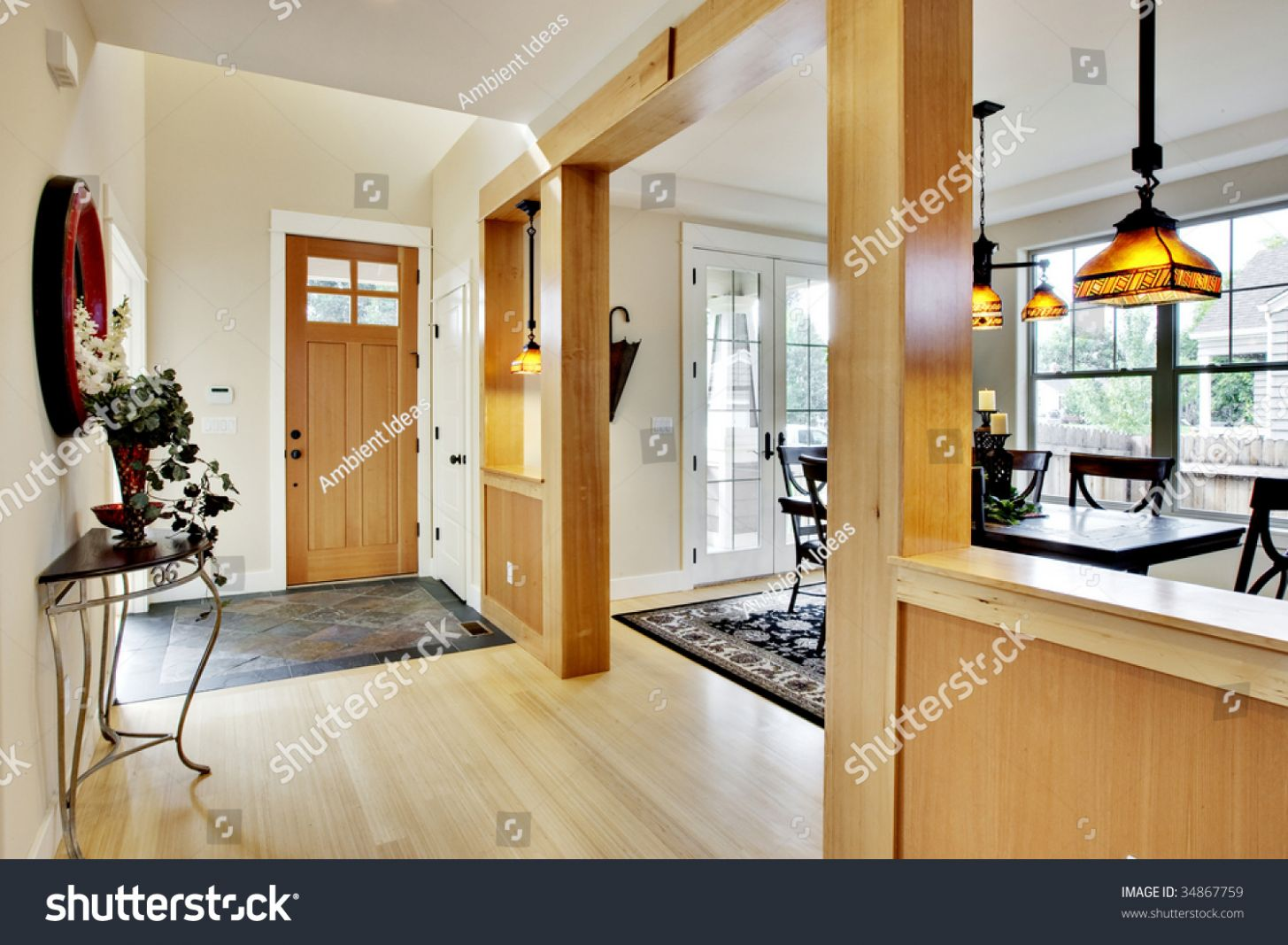 Wide View Home Entrance Hallway Dining Stock Photo (Edit Now) 11 - dining room entrance ideas