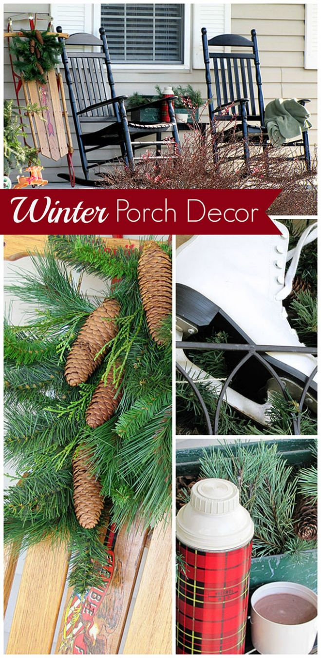 Winter Porch Decor - House of Hawthornes