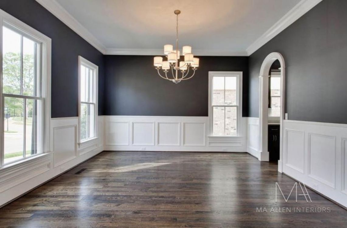 Wood Plank Wall Paneling Dining Room Wainscoting Ideas ..