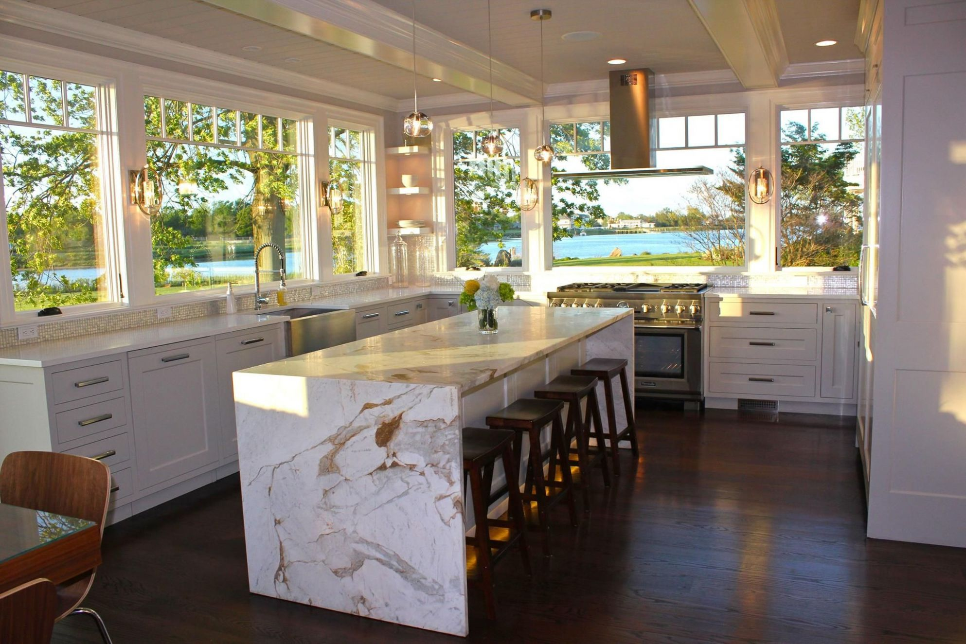 WOW! This Thermador Kitchen is beautiful! Love the windows. When ...
