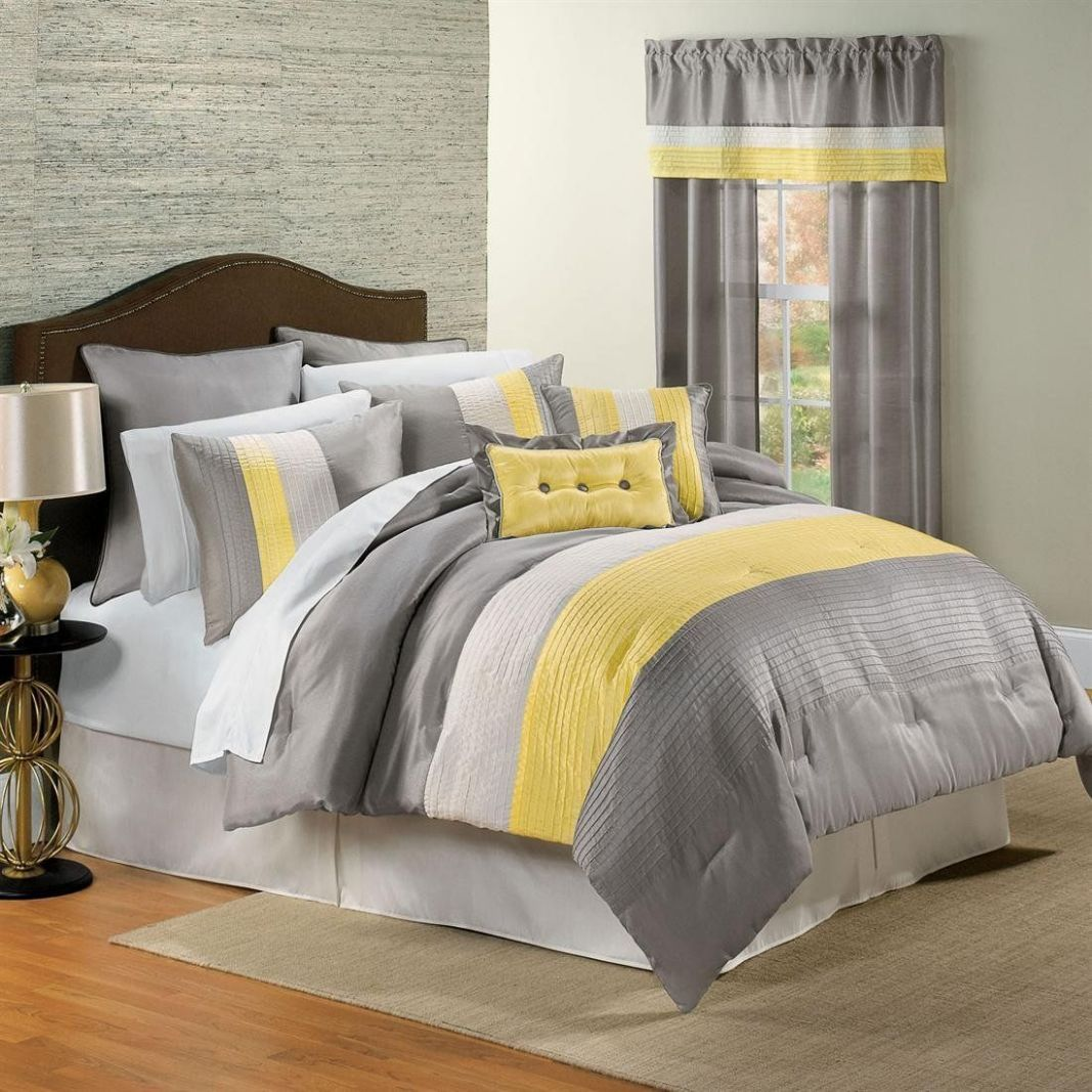 Yellow and Gray Bedding That Will Make Your Bedroom Pop - bedroom ideas yellow and gray