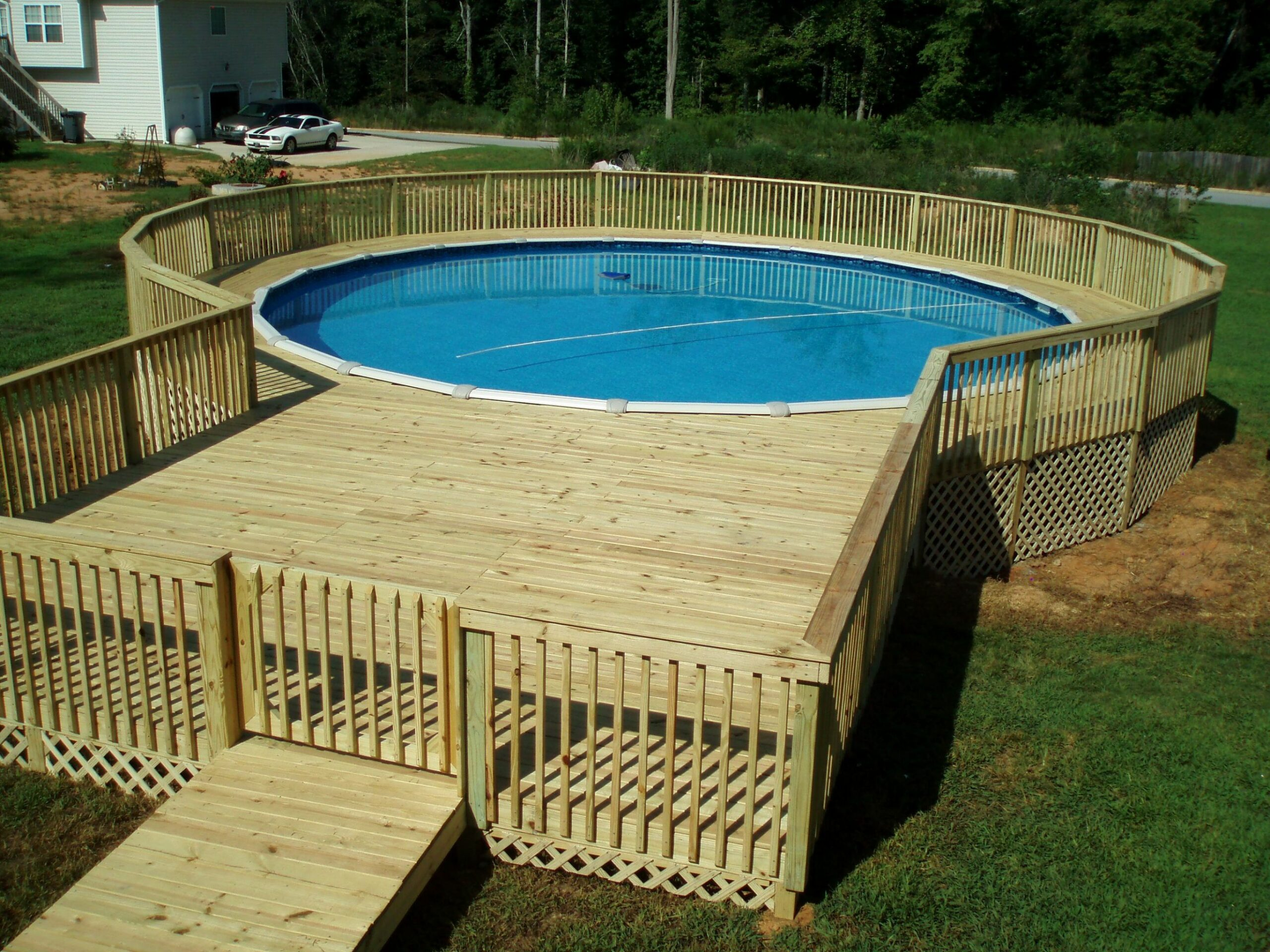 10+ Amazing and Unique Above Ground Pool Ideas with Decks ...