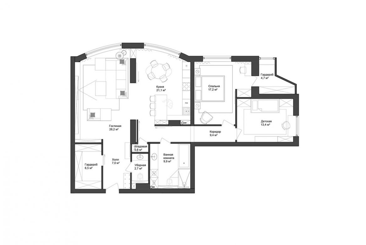 10 Apartments Under 1100 Square Meters (10 Square Feet) With Floor ..