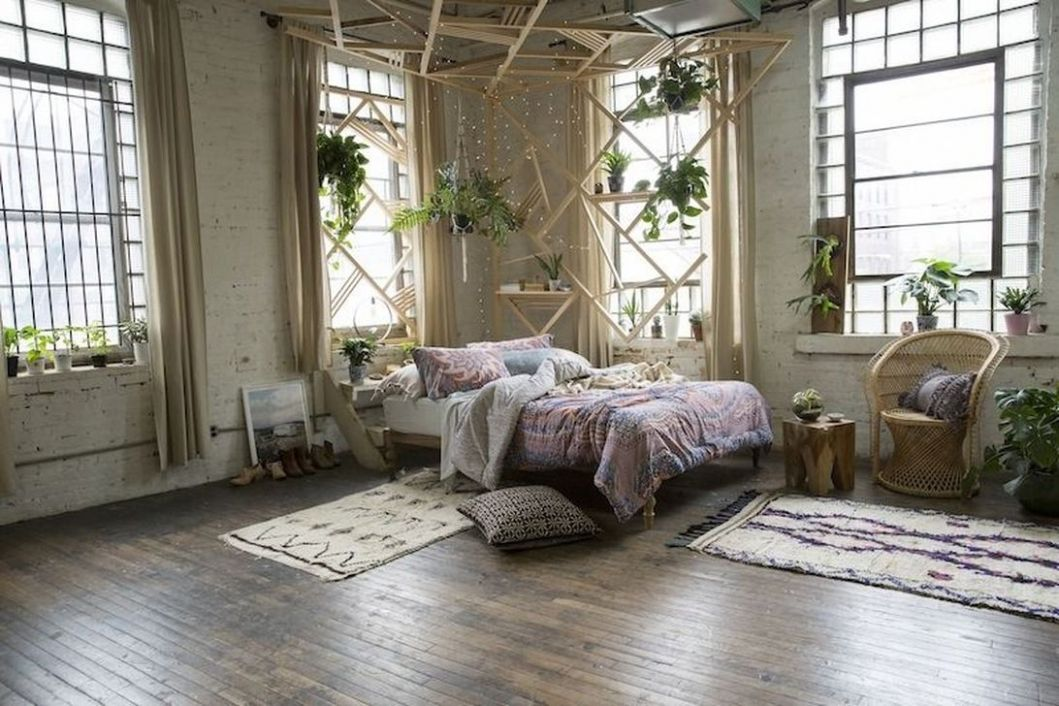 10 Awesome Bohemian Bedroom Decor Ideas With Plants - decoomo