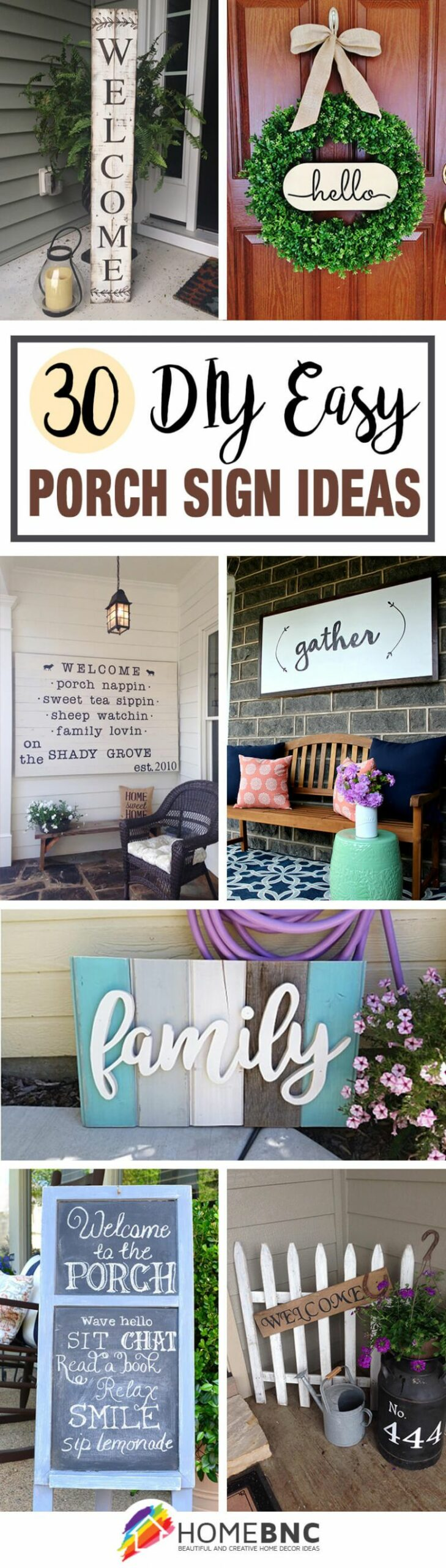 10 Best Front Porch Sign Designs and DIY Ideas for 10 - front porch decor signs