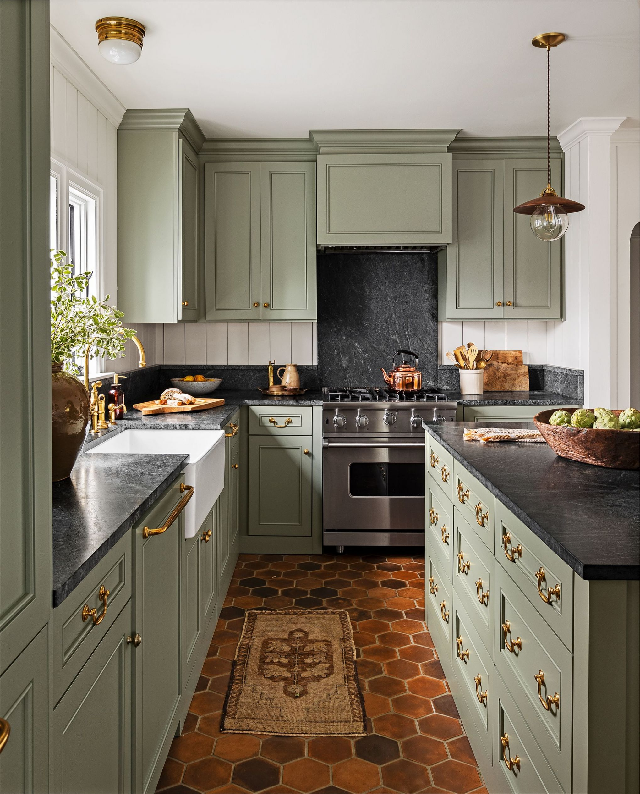 10 Best Green Kitchen Cabinet Ideas - Top Green Paint Colors for ..
