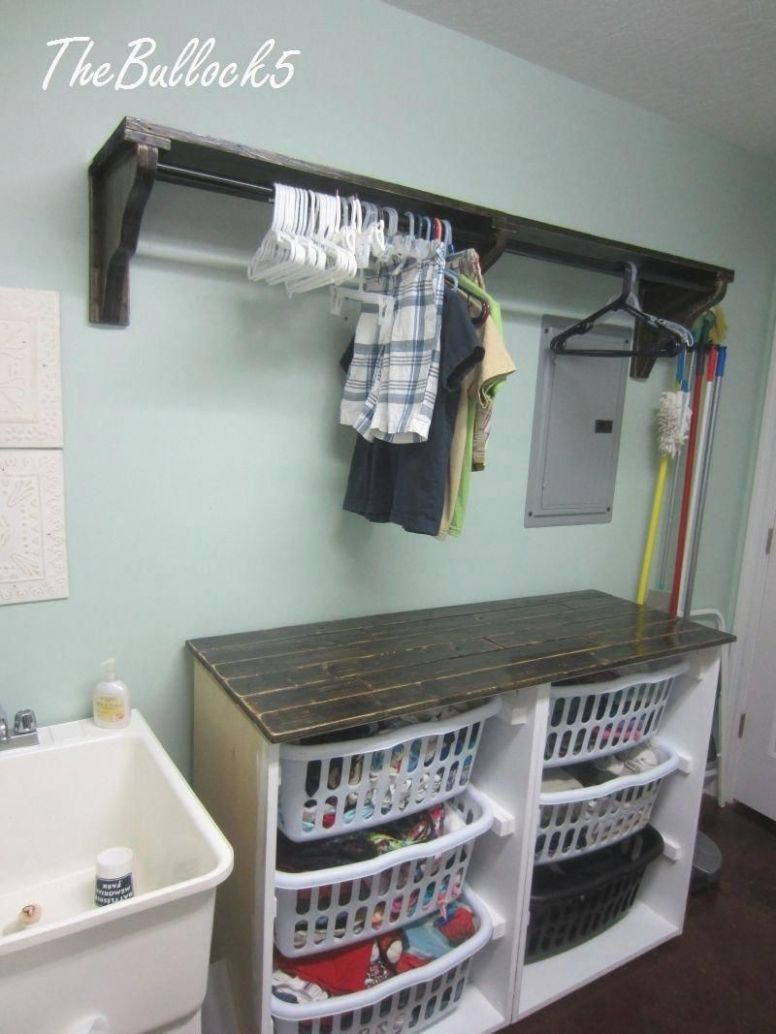 10 Best Laundry Room Shelf Ideas with Hanging Rod for Small Space ..