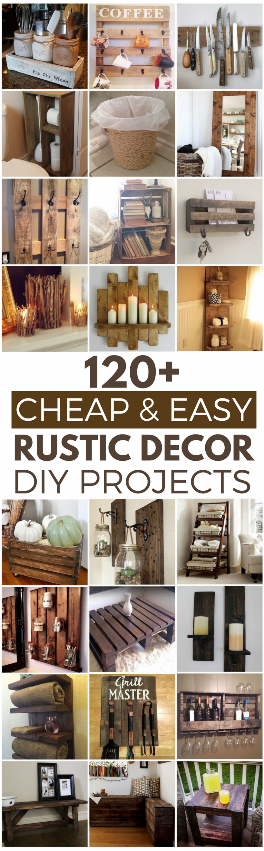 10 Cheap and Easy Rustic DIY Home Decor | Diy decor projects, Diy ...