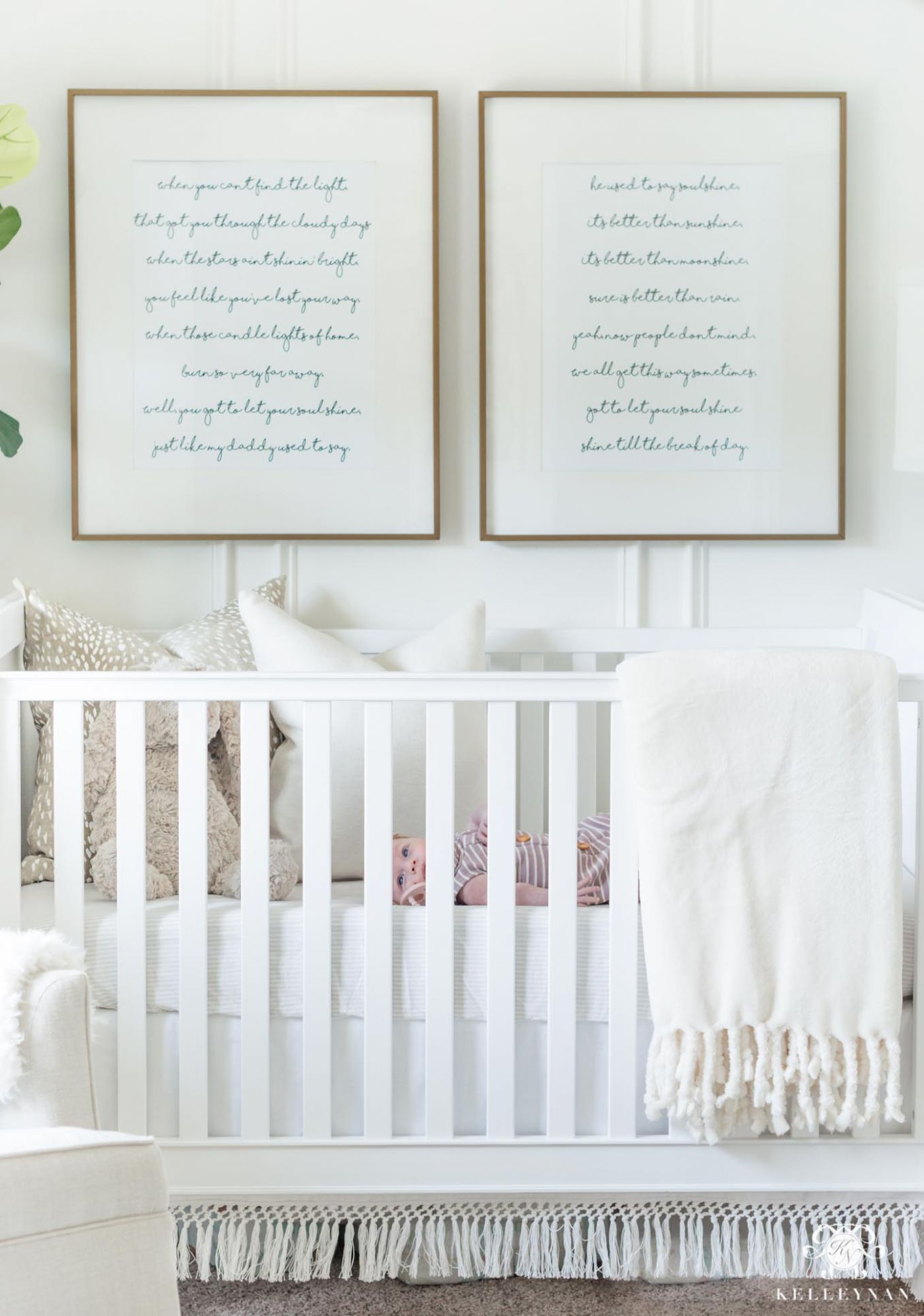 10 Classic Song Lyric Quotes Perfect for Nursery Wall Art | Kelley Nan - baby room quotes