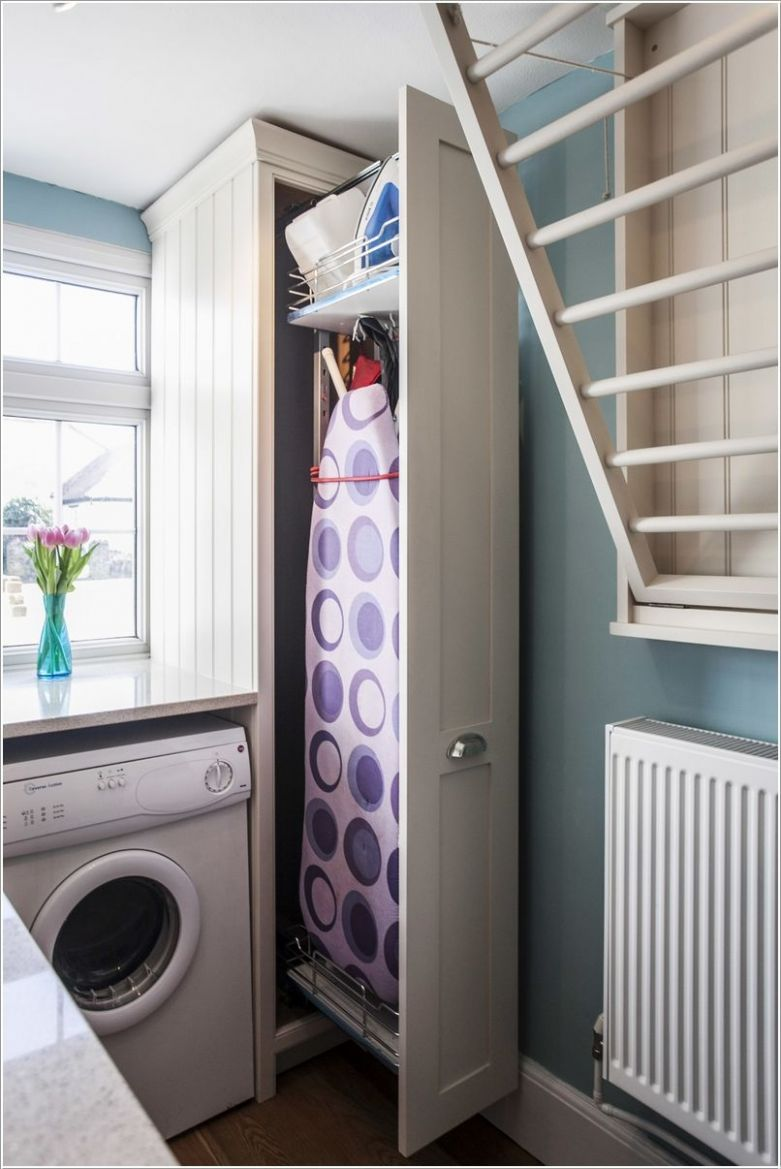 10 Clever Space-Saving Ideas for a Small Laundry Room   Laundry ...