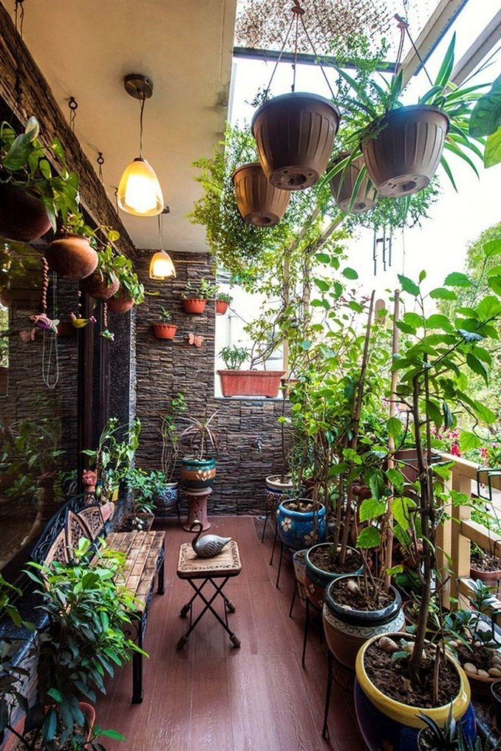 10+ Cool Terrace Design Ideas (With images) | Small balcony garden ..