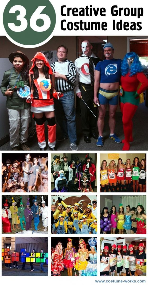 10 Creative Group Halloween Costume Ideas (With images) | Themed ...