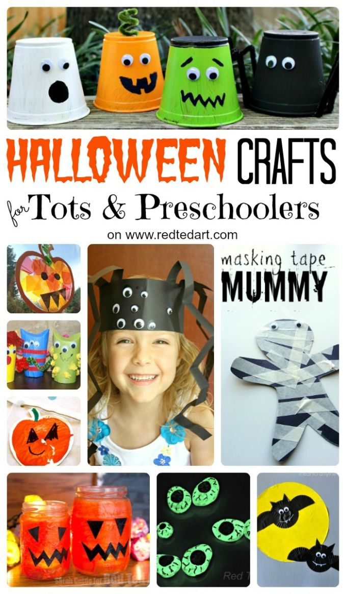 10 Cute & Easy Halloween Crafts for Toddlers and Preschool - Red ...