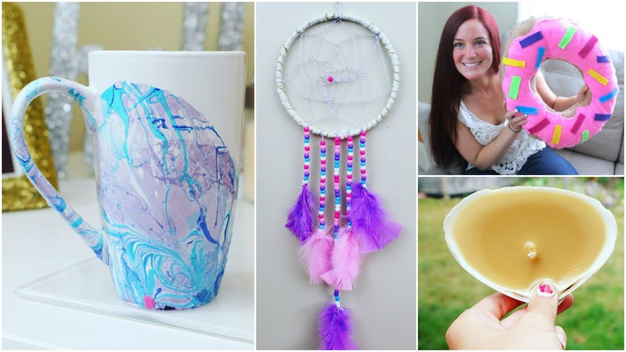 10 DIY HOME DECOR CRAFT IDEAS FOR THE SUMMER | PINTEREST INSPIRED - diy home decor crafts