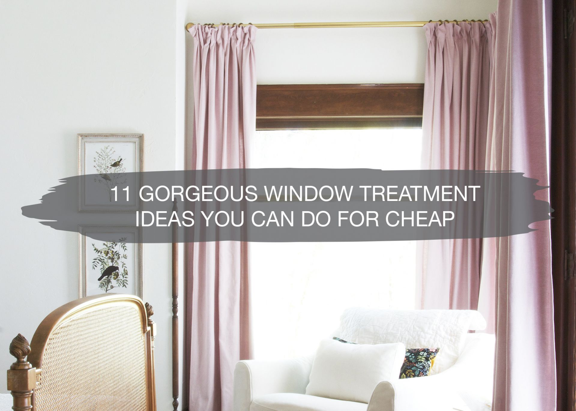 10 DIY Window Treatment Ideas   Cheap Upgrades For Your Home