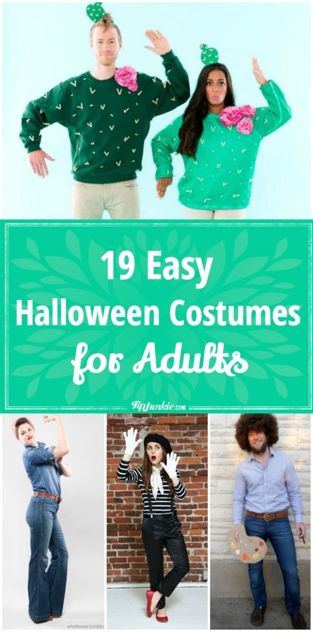 10 Easy Adult Halloween Costumes [men, women] (With images) | Easy ..