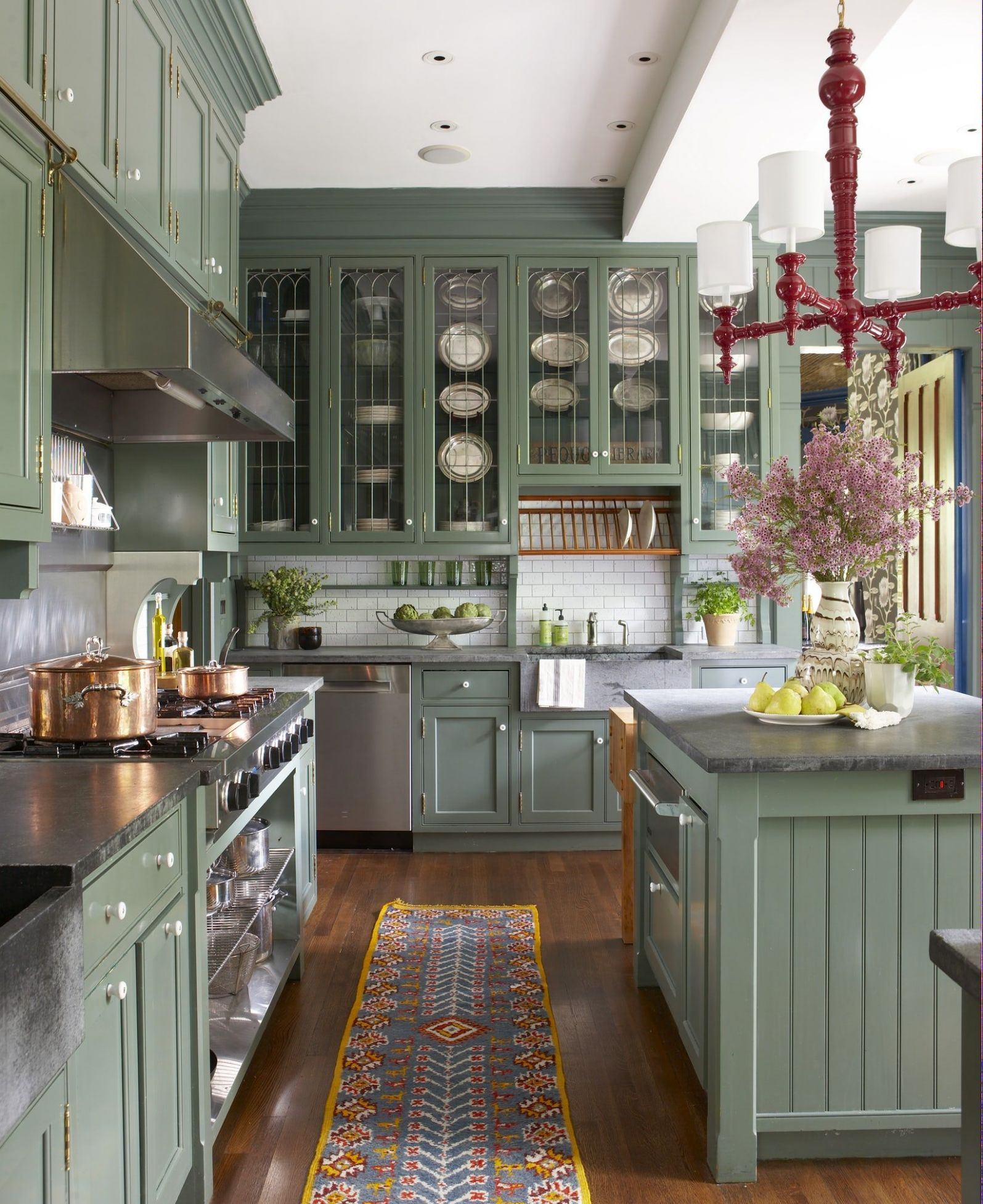 10 Green Kitchen Design Ideas - Paint Colors for Green Kitchens - kitchen ideas green