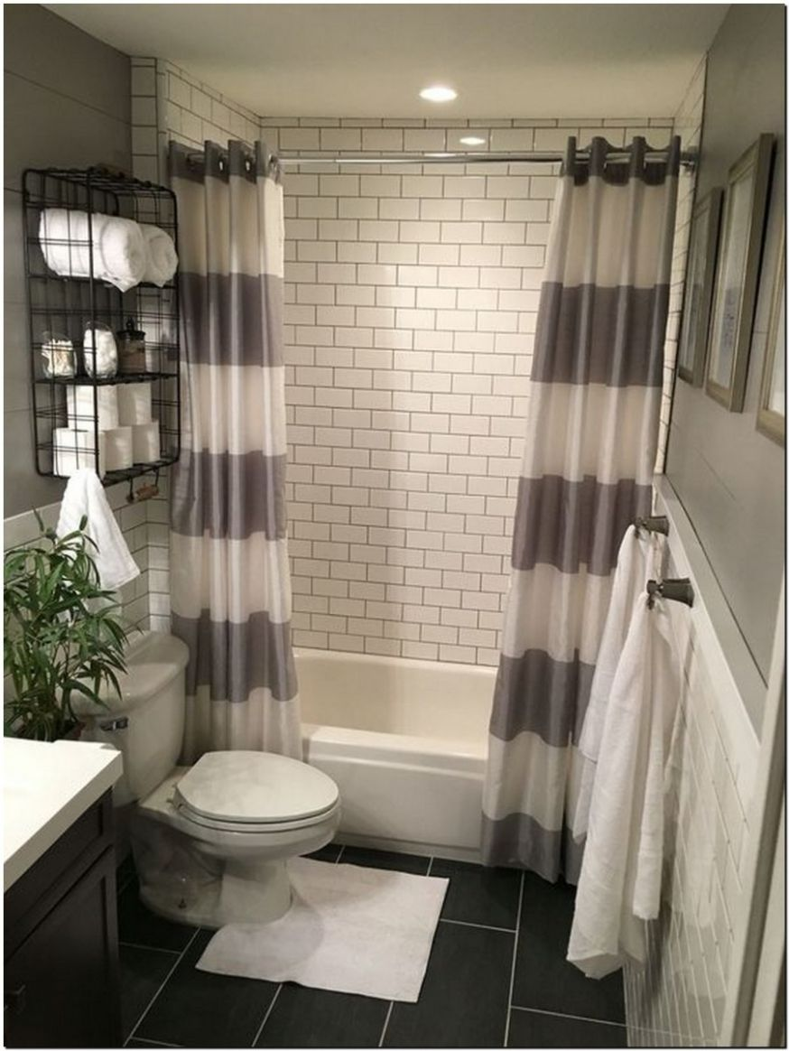 10+ guest bathroom makeover ideas on a budget with curtain 10 ...