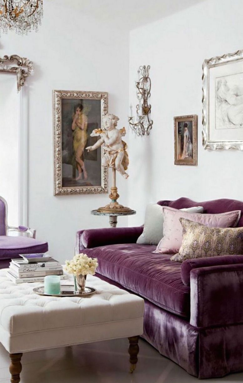 10 Royally Purple Velvet Sofas For the Living Room (With images ...