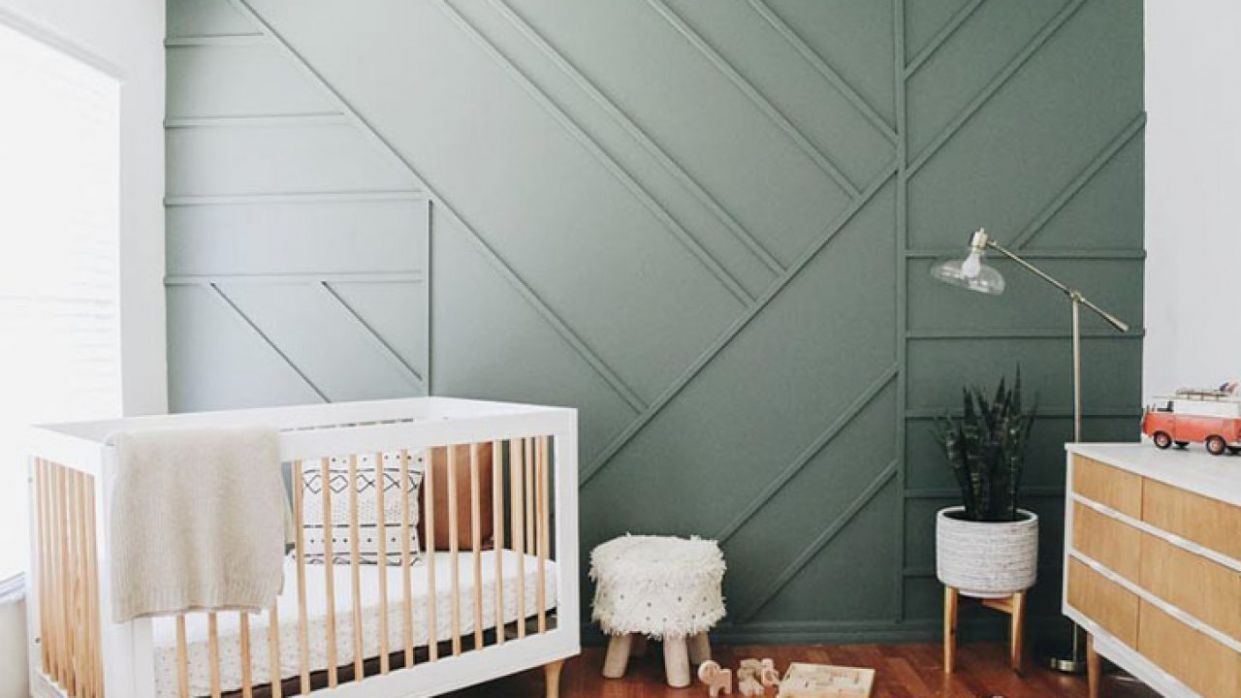 10 Showstopper Baby Nursery Accent Wall Ideas - baby room accent wall