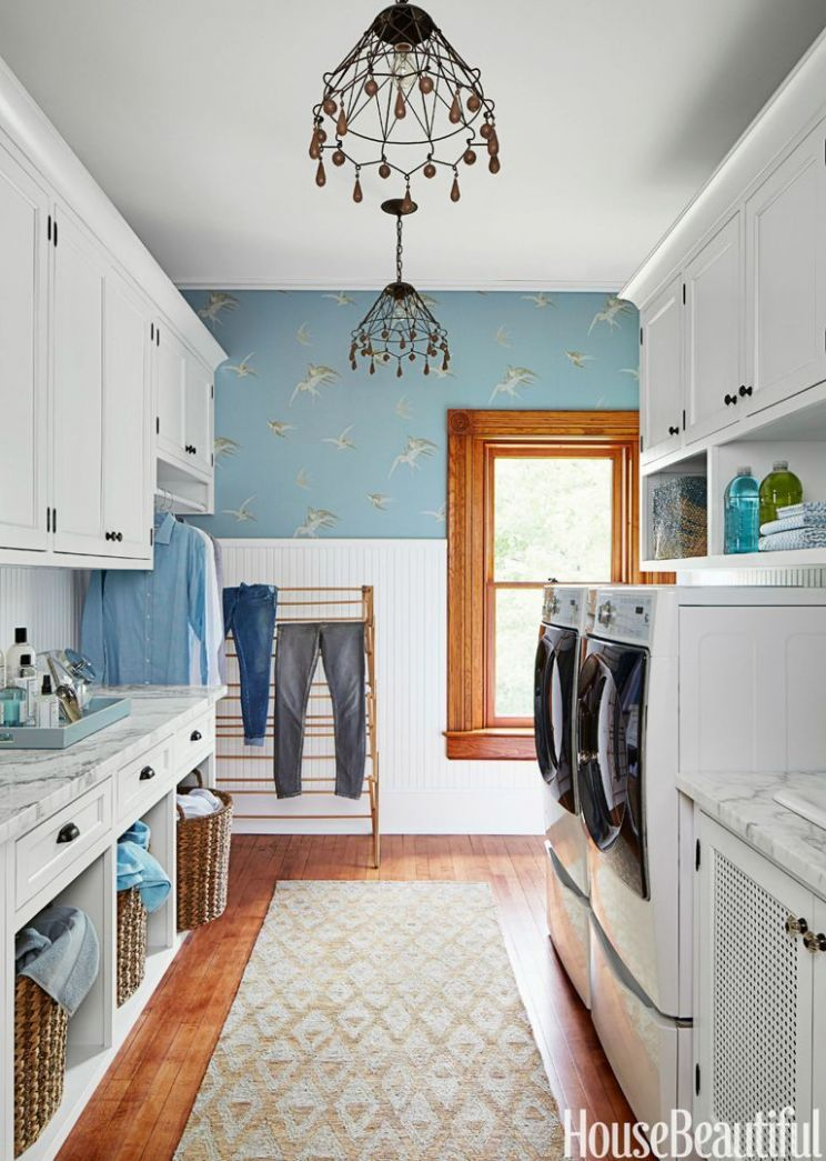 10 Small Laundry Room Ideas - Small Laundry Room Storage Tips - laundry room storage ideas