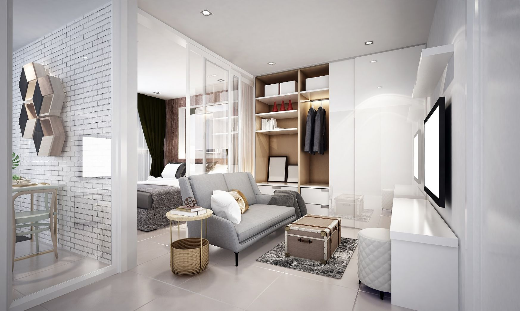 10 Stylish Design Ideas For Your Studio Flat | The LuxPad