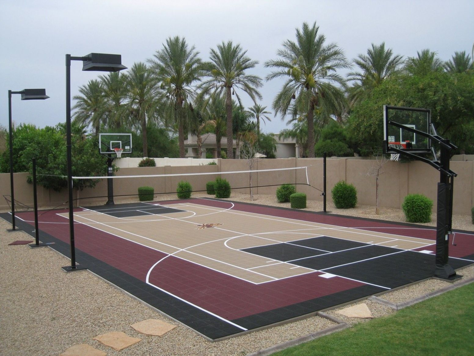 10' x 10' Full Court (With images) | Basketball court backyard ...