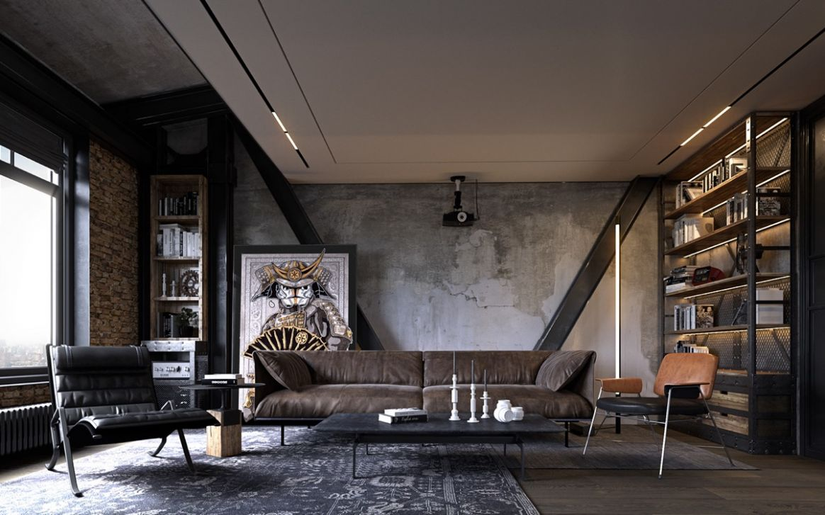 11 Apartments That Turn Up The Dial On Industrial Style - industrial apartment decor ideas