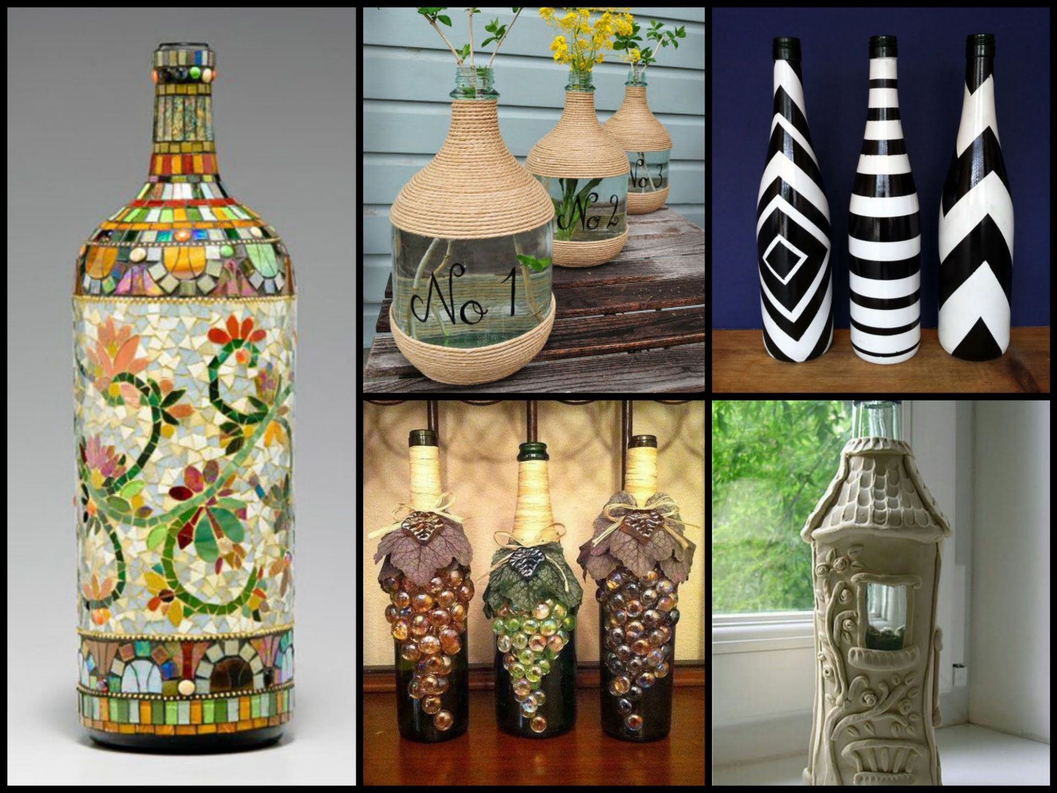 11+ Beautiful Bottle Decorating Ideas   DIY Recycled Room Decor ...