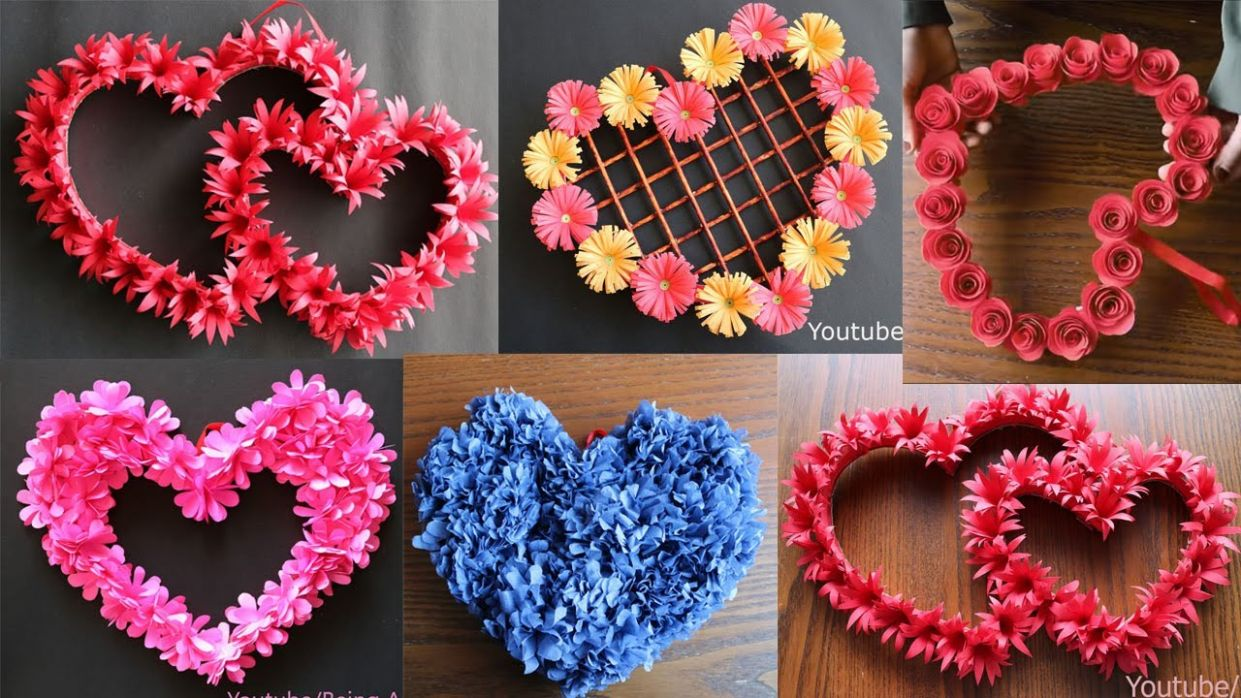11 Beautiful Paper Flower Wall Hanging- Easy Wall Decoration Ideas - Paper  craft - DIY Wall Decor - wall decor ideas you tube