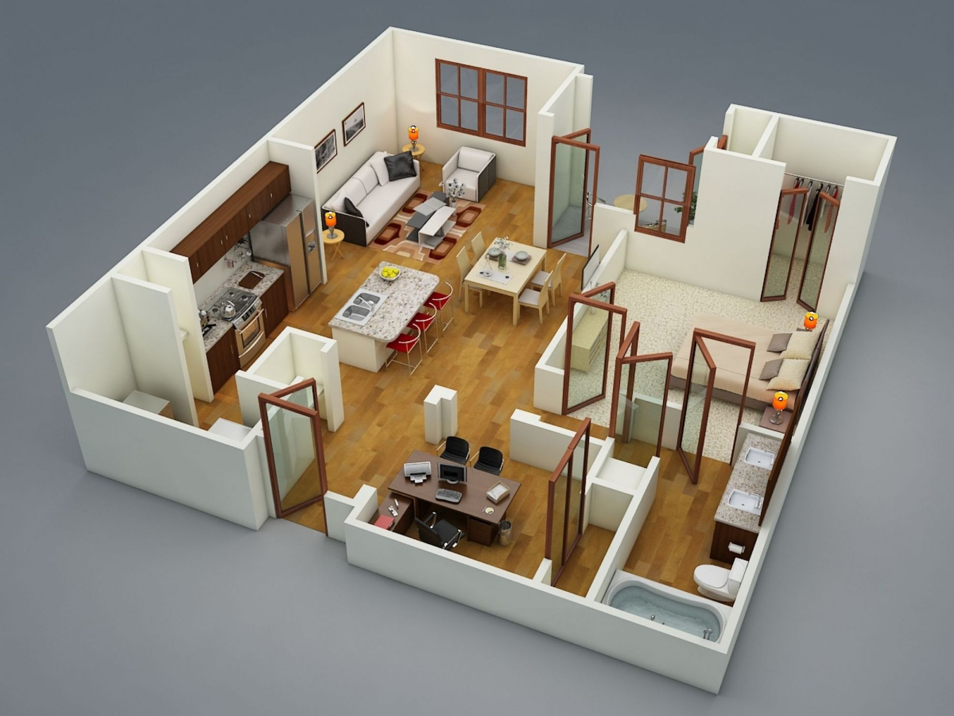 11 Bedroom Apartment/House Plans - apartment design house
