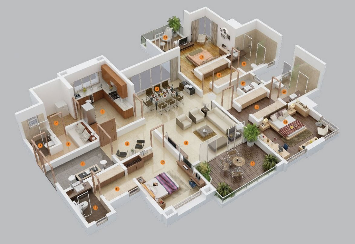 11 Bedroom Apartment/House Plans