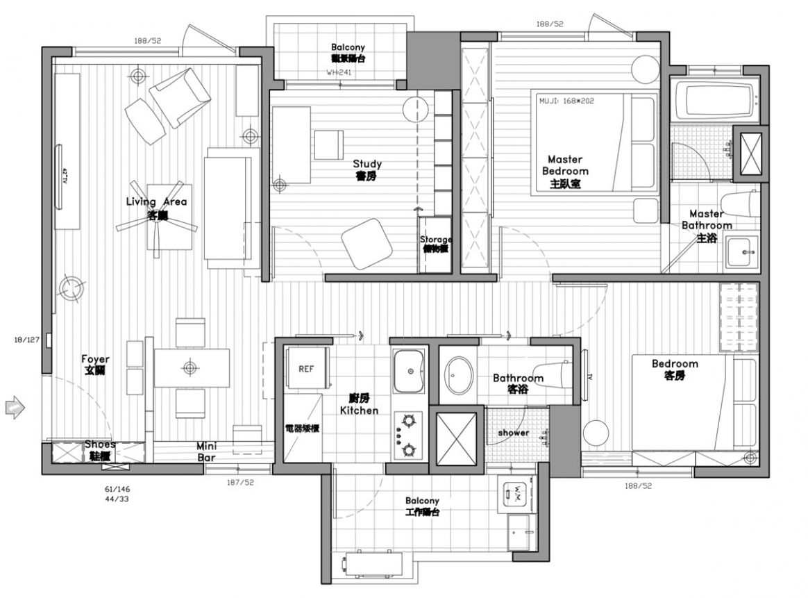 11-Bedroom Modern Apartment Design Under 11 Square Meters: 11 Great ..