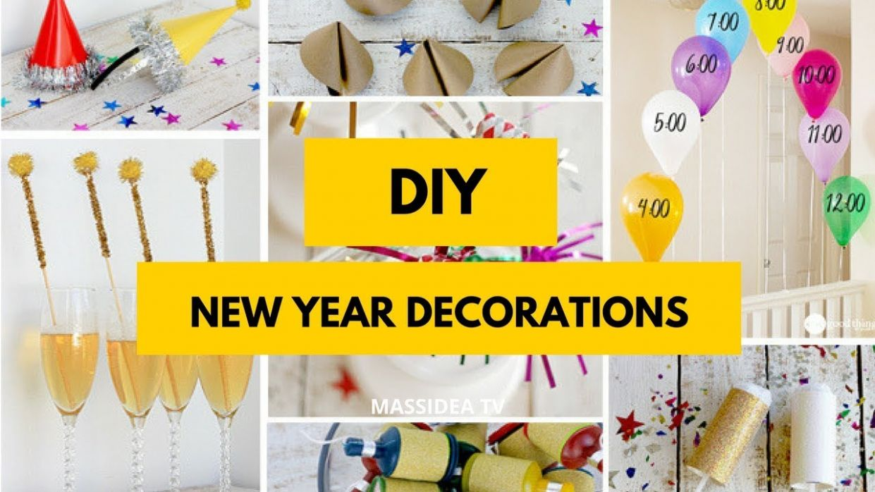 11+ Best DIY New Year Decorations for Home - diy home decor for new year