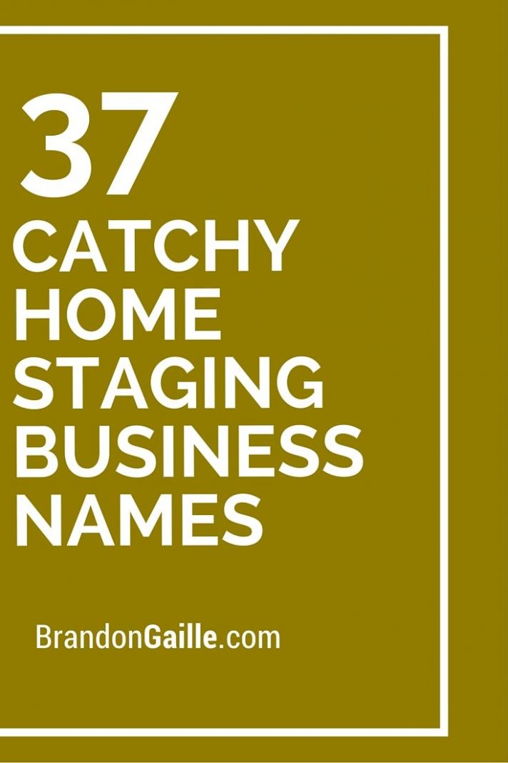 11 Catchy Home Staging Business Names | Design company names ...