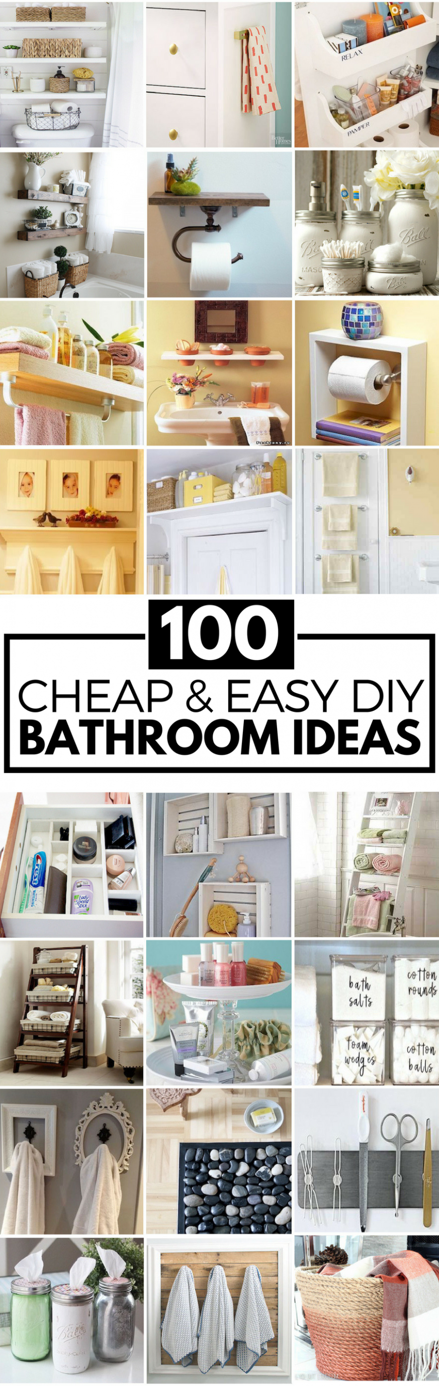 11 Cheap and Easy DIY Bathroom Ideas (With images) | Diy bathroom ..