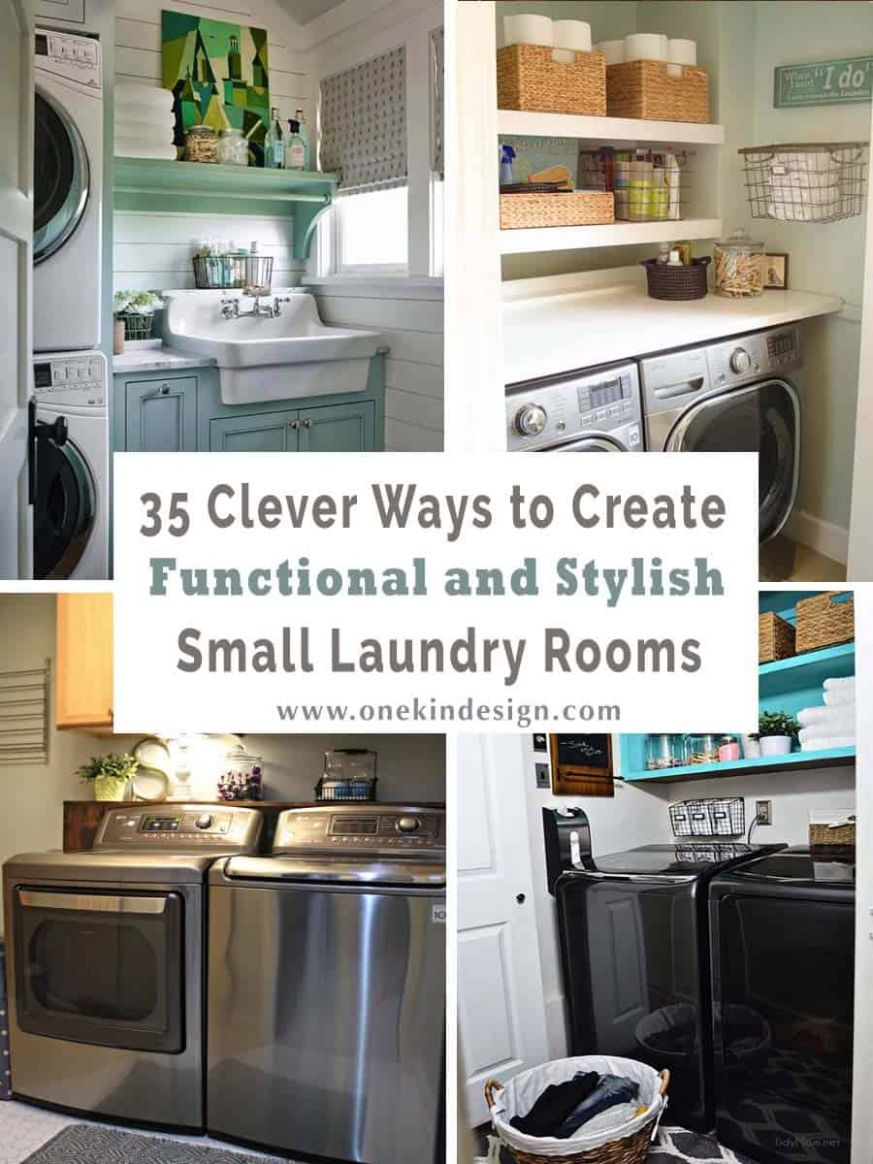 11 Clever ways to create functional and stylish small laundry rooms - small laundry room ideas top loading washer