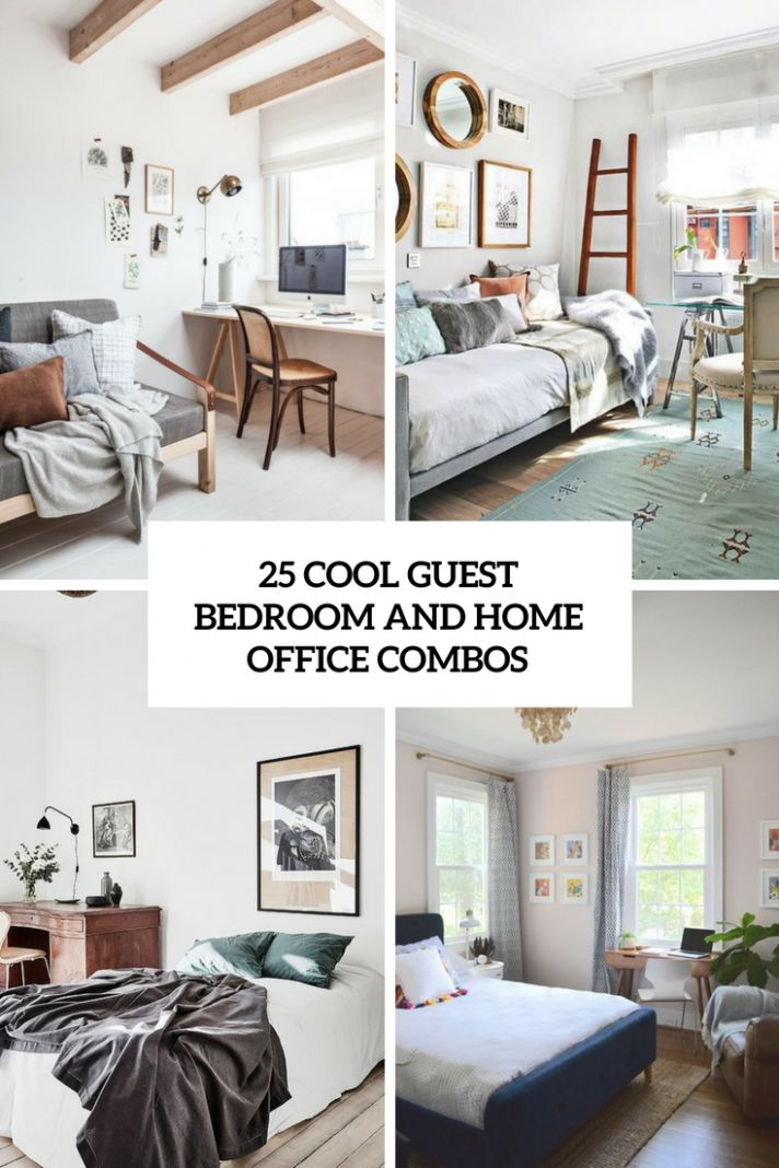 11 Cool Guest Bedroom And Home Office Combos - home office ideas spare bedroom