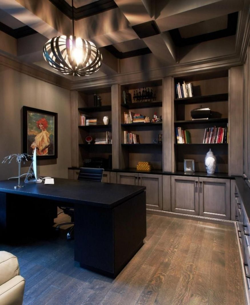 11 Cool Home Office Ideas For Men (With images) | Office interior ...