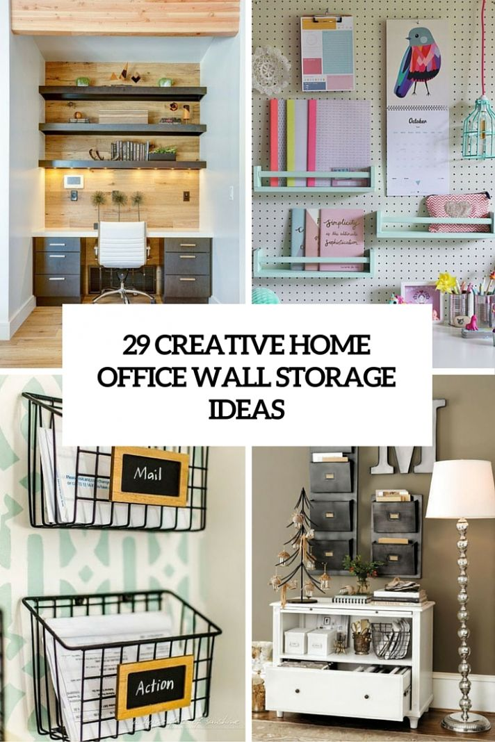 11 Creative Home Office Wall Storage Ideas - Shelterness