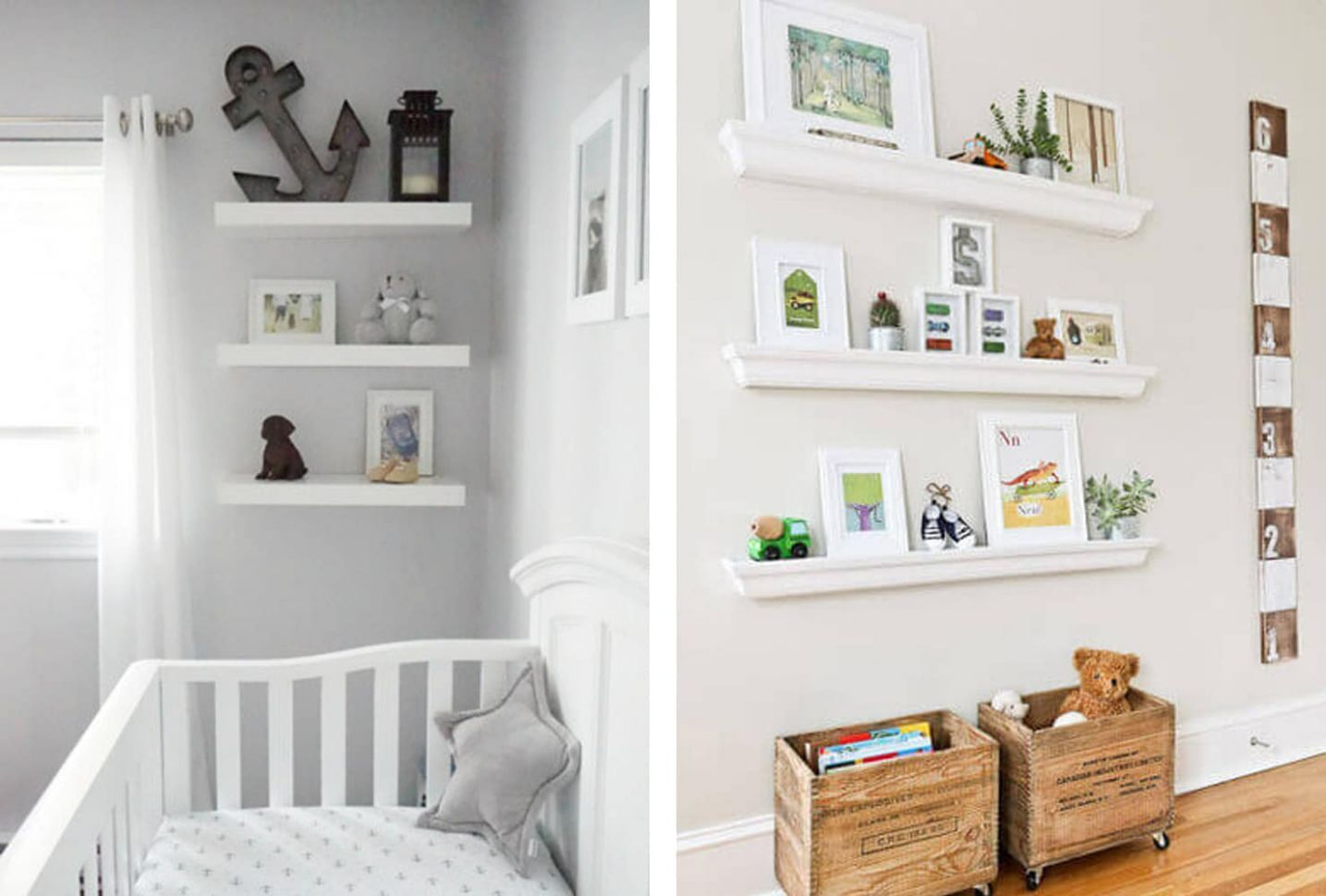 11+ Cute Baby Boy Room Ideas | Shutterfly - baby room bookcase