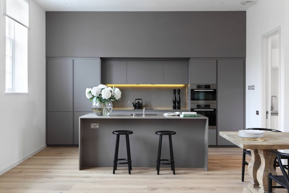 11 Gorgeous Grey Kitchens - kitchen ideas with grey cabinets