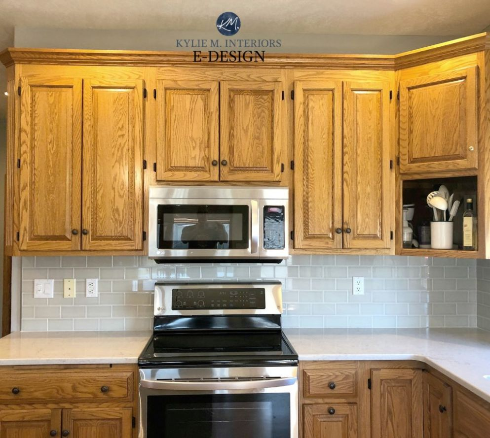 11 Ideas: How to Update Oak or Wood Kitchen Cabinets - kitchen ideas oak cabinets