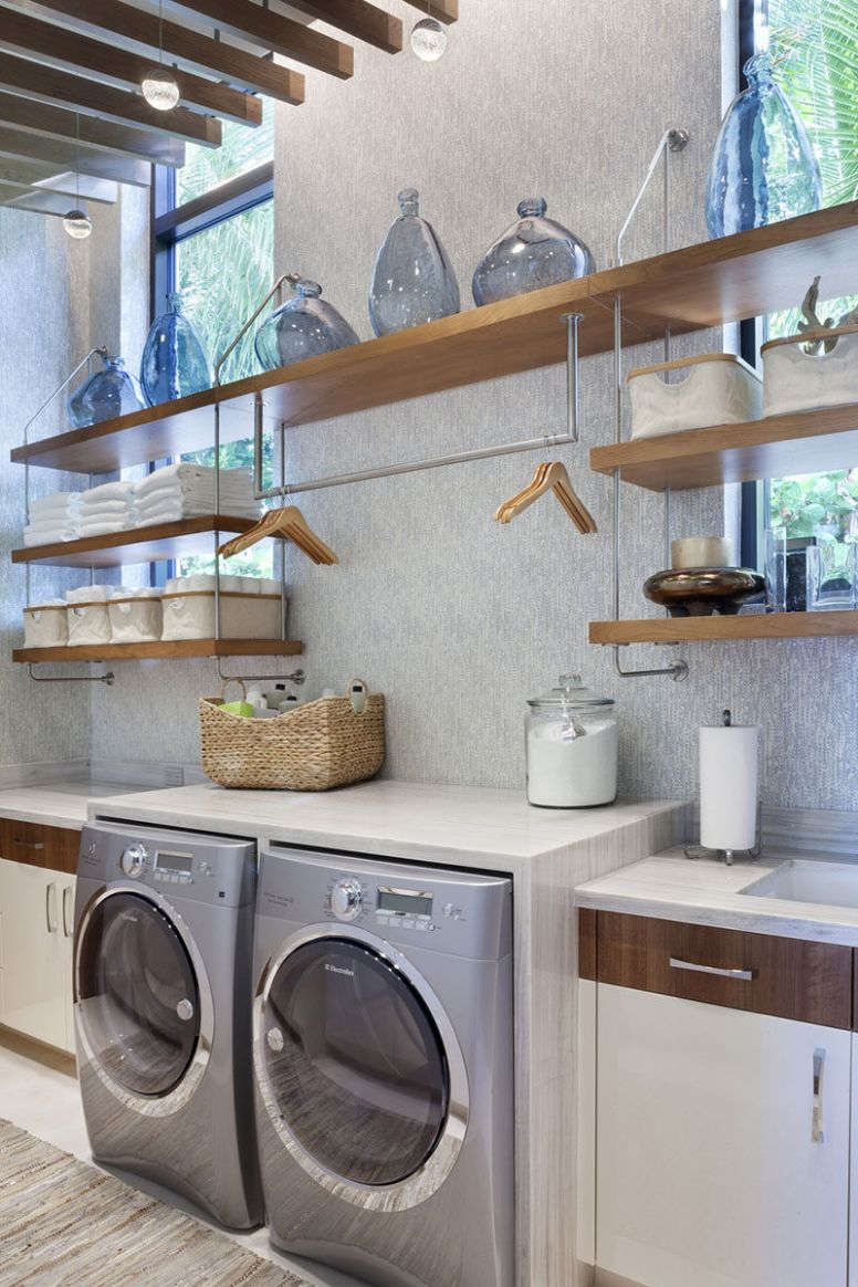 11 Laundry Room Design Ideas To Use In Your Home - laundry room bar ideas