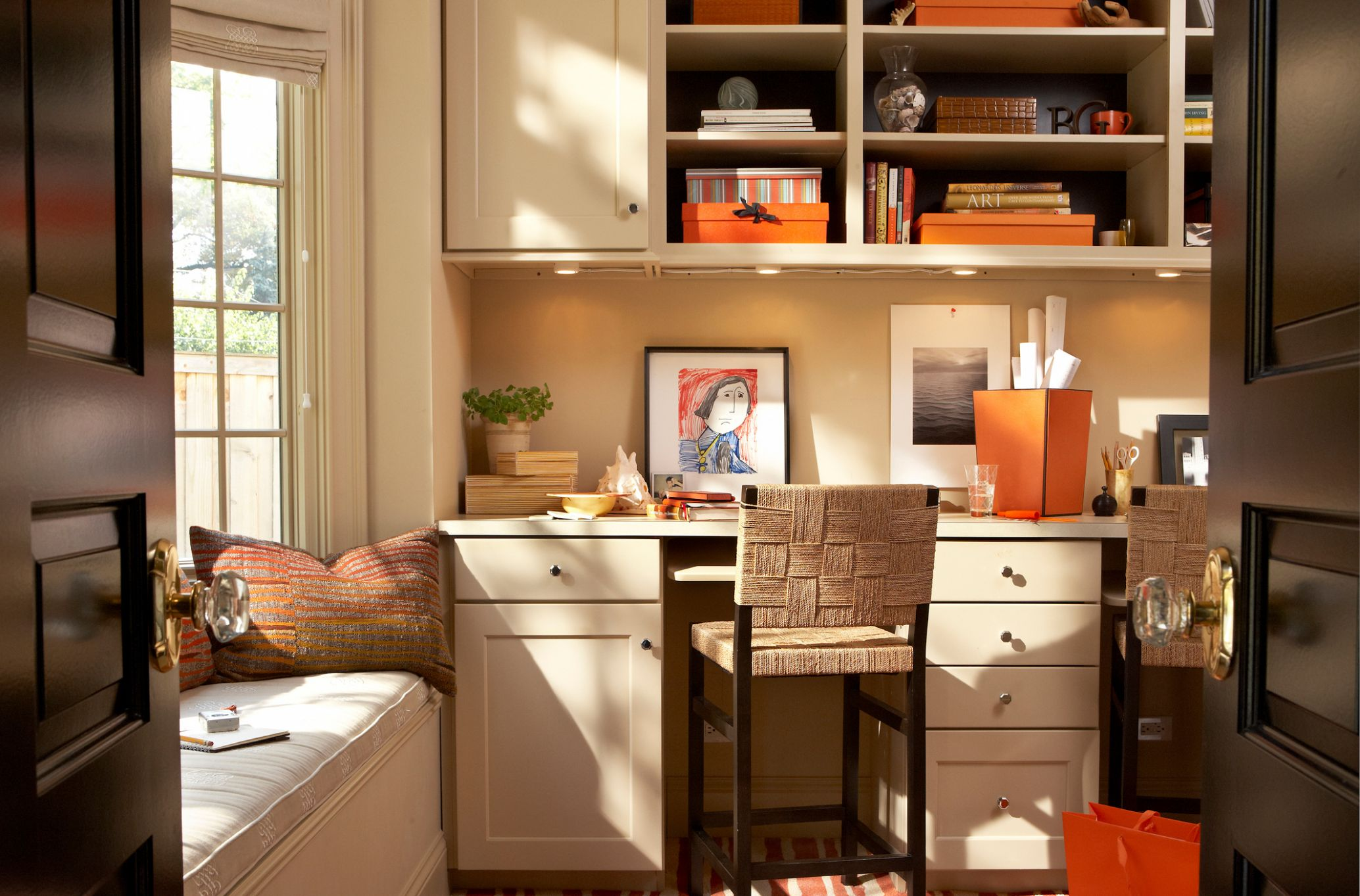 11 Modern and Chic Ideas for Your Home Office - Freshome - home office ideas kitchen