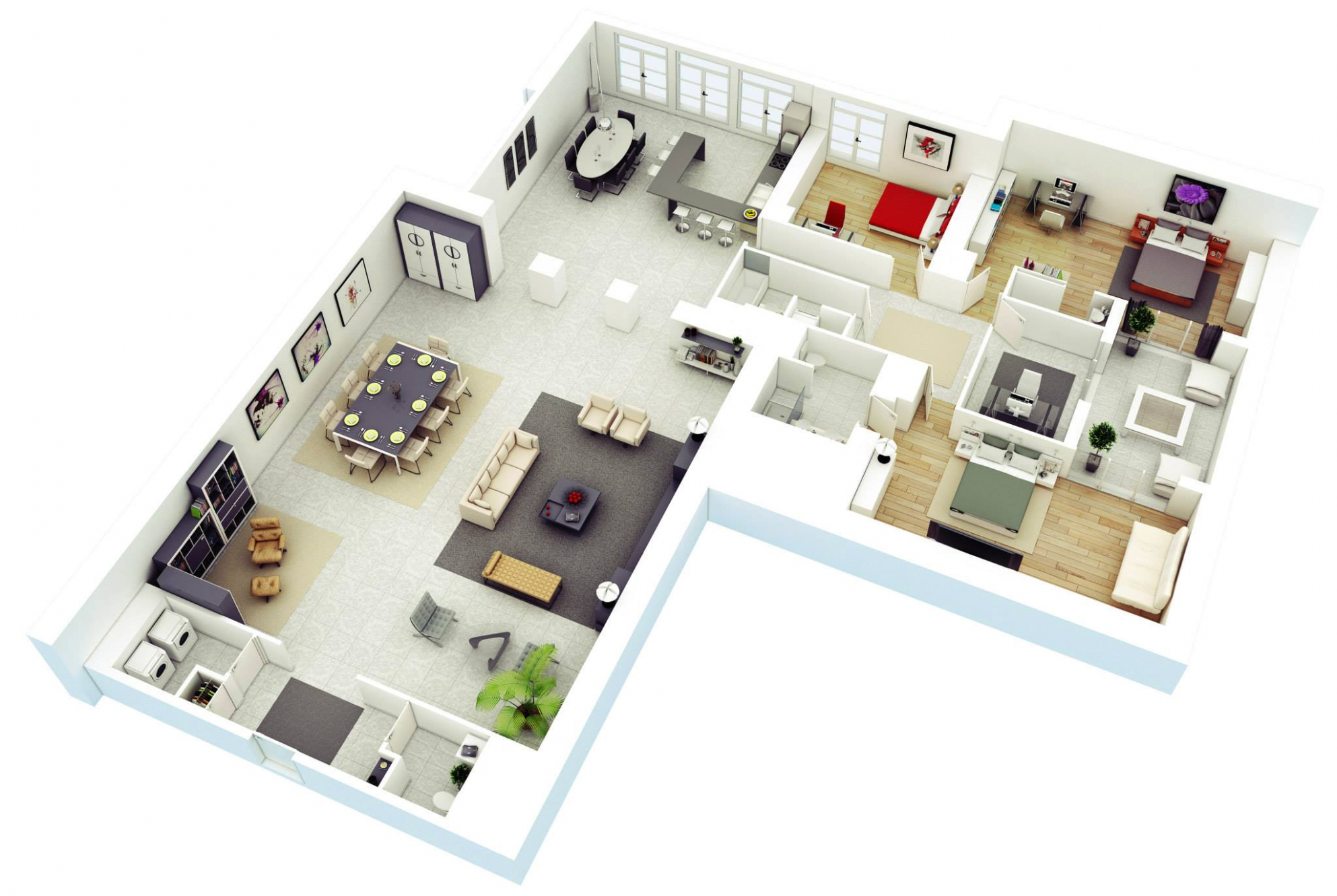 11 More 11 Bedroom 11D Floor Plans - apartment design architecture pdf