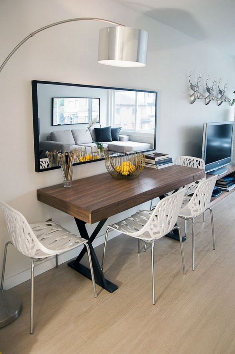 11 Narrow Dining Tables For a Small Dining Room | Apartment dining