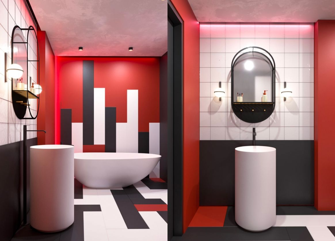 11 Red Bathrooms Design Ideas With Tips To Decorate And ...