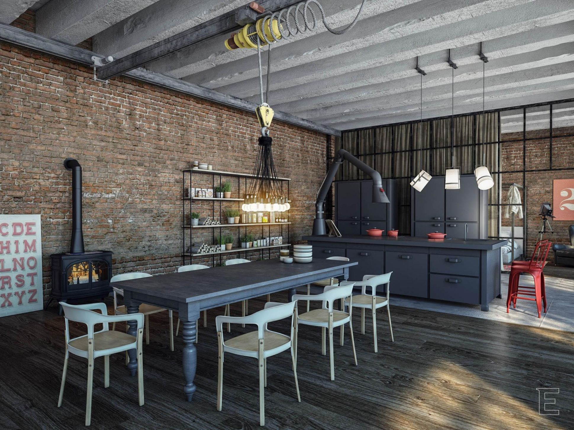 11 Resourceful Industrial Dining Room Ideas That Are Totally Worth ..